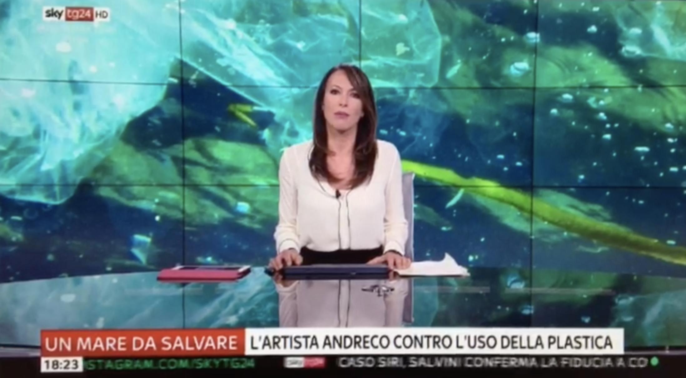 Un mare da salvare | L'artista Andreco contro l'uso della plastica