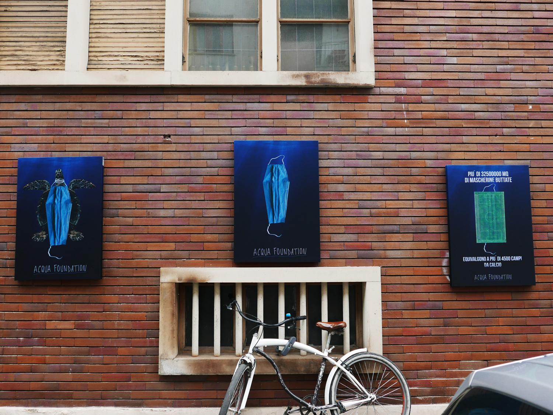 Le mascherine inquinano. Acqua Foundation con lo street artist Andrea Villa lancia il progetto Last Breath